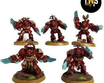 Warhammer 40k Blood Angels Terminator Assault Squad, Commissioned Painting Services