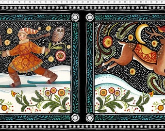 The Four Seasons Panel - Winter - by Julie Paschkin for In The Beginning Fabrics, 40JPI-1