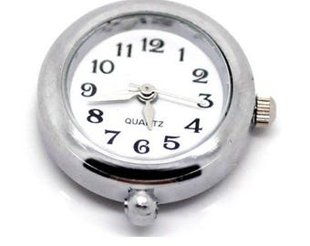 NEW! WATCH DIAL SILVER 2 CM ROUND