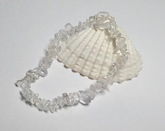 Quartz Bracelet, Quartz, Crystal Bracelet,Chip Bracelet,Crystal Healing,Stretch Bracelet,Stretchy Bracelet,Yoga Bracelet,Healing Bracelet