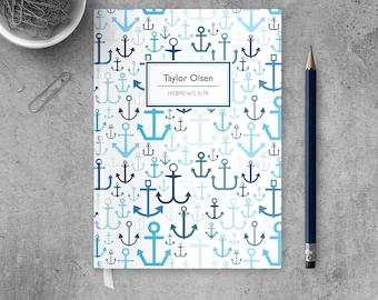 Anchor Journal for Men, Christian Notebook, Religious Journal Diary, Prayer Journal, Personalized Notebook, Christian Journal