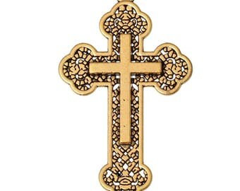 Alloy Cross Antique Gold, 54 mm x 32 mm (2047)