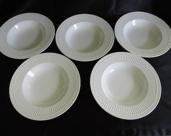 Set of 5 Mikasa Italian Countryside Rimmed Soup / Salad Bowls