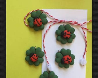 Martisor - four leaf clover-handmade in the US