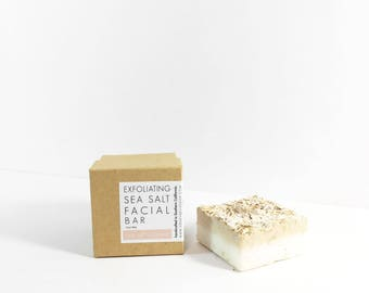 Sea Salt Oatmeal Facial Bar | Oatmeal Bar | Sea Salt Bar | Exfoliating Facial Bar | Facial Soap | Acne Soap | Exfoliating Soap Bar