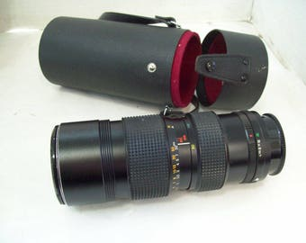 Konica Hexanon 80-200 mm f3.5 Lens, Japan, With Case Free Shipping