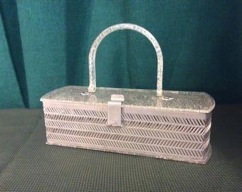 1950s lucite box bag