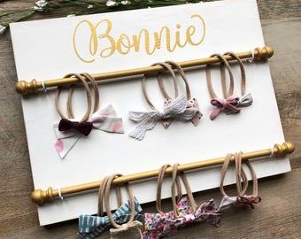Baby Headband, Boho Nursery, Hair Bow Holder, Hair Bows, Bow Holder, Bow Frame, Headband Holder, Nursery Decor, Bow holder, Bow organizer
