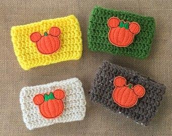 Pumpkin Cozy | Pumpkin Mouse Cozy | PSL | Pumpkin Minnie Cozy | Fall Coffee Cozy