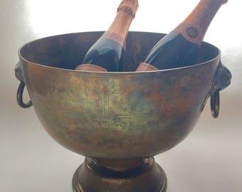 Vintage/Antique Large Brass Champagne Bowl