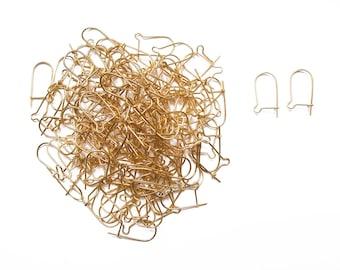 10 lever back earrings golden metal 18mm