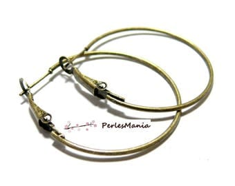 50 Bronze 35 mm JB211, DIY hoop earring