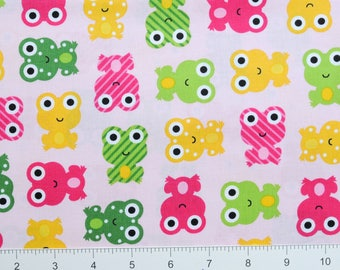 FROGS ~ Urban Zoologie by Ann Kelle for Robert Kaufman ~ AAK14724192 ~ By The Half Yard ~