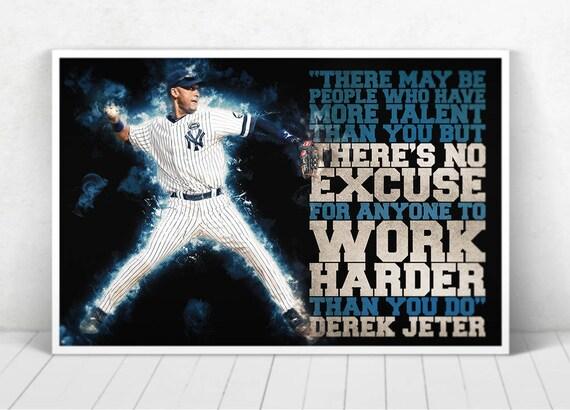 Derek Jeter Illustration / Derek Jeter Poster / Derek Jeter / Yankees / #2 / RE2PECT