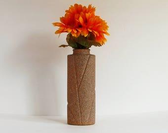 Cream Flower Vase, Stone Vase Set, Tall Flower Vase, Large Cream Vase, Cream Bud Vase, Neutral Flower Vase, Housewarming Gift, Gift for Mom