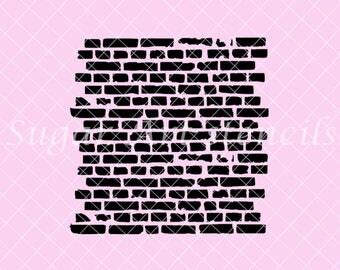 Bricks Wall stencil  NB60042