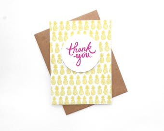 Thank You Card Set | Thank You Cards | Pineapple Thank You Cards | Graduation Thank You Cards | Baby Shower Thank You Cards | Wedding