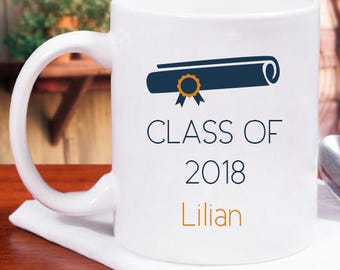 Class of 2018 Mug Fully Personalized With Name Printed