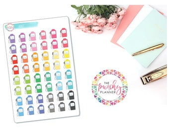 Vintage Gas Pump Icon Planner Stickers for use with ERIN CONDREN LIFEPLANNERTM