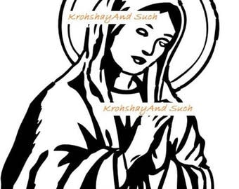 Virgin Mary,  Crochet Pattern. Please Read the Description before making a purchase. PDF Instant Download.