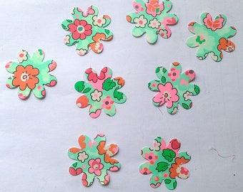 Paper cut-out flowers 8 thick dies scrapbooking embellishment