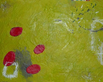 Seeds - 16 x 12 inch Encaustic Painting