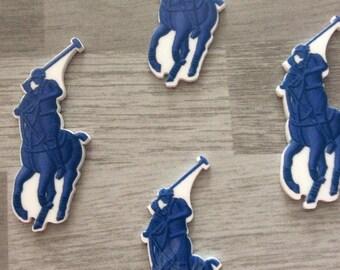 1 CABOCHON blue horse APPLIQUE