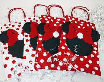 Minnie Mouse Treat Bags, Minnie Mouse Bags, Minnie Mouse Birthday, Minnie Mouse Decor