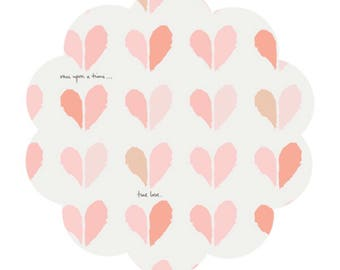 Heart print cotton fabric supply. Happily ever after print. Cotton fabric. Apparel cotton fabric supply. Modern heart print. DIY sewing.