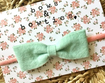 Mint Green Bow Headband