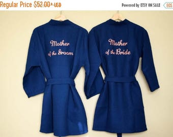 SUMMER SALES SET Of 2, Mother of the Bride robe, Mother of the Groom robe, Mother of the Bride gift, Mother of the Groom gift, Wedding robes