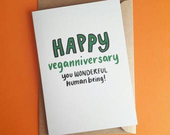 Happy Veganniversary | Vegan card | Blank card