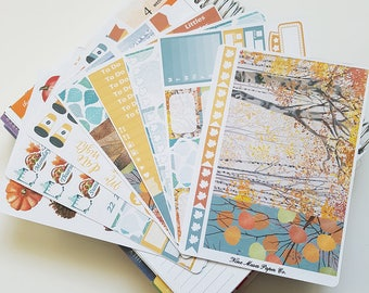 Planner Stickers - Fall Birches