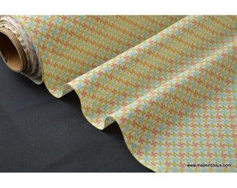 fabric cotton Poplin printed drawing kebull mixed x50cm