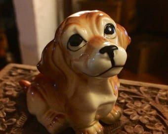 Vintage Bone China Dog Figurine