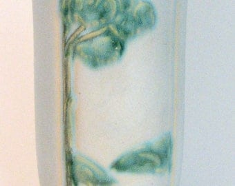SPRING SALE 1930s Vase Weller Scenic Tree 1937 Pottery