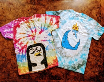 Adventure Time Choose Your Character Tie Dye Shirt
