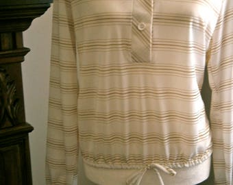70's Cream/Gold stripe Shirt