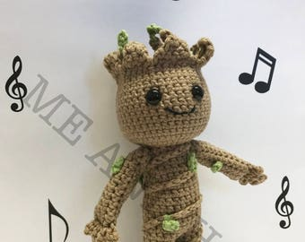 Baby Groot Crochet Amigurumi - Inspired by Guardians of the Galaxy 2