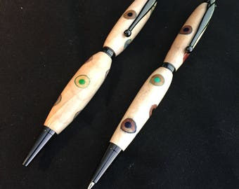 Slimline custom pen and pencil set