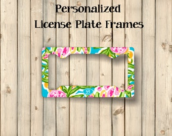 License Plate Frame   Monogram License   New Car Gift   License Plate Cover   License Plate Frames   Car Decor   Personalized Gift