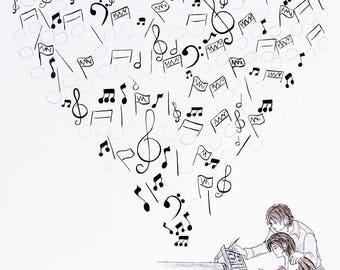 """Fingerprint tree """"music"""" wedding"""