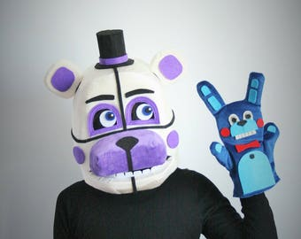 Funtime Freddy Fazbear mask with puppet, Five nights at Freddys mask,  fnaf mask