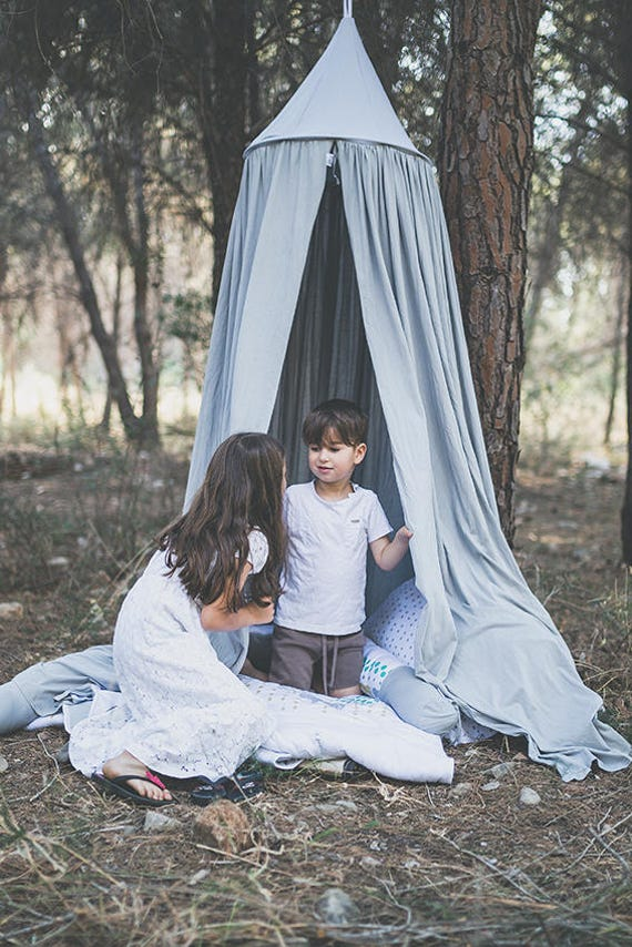 Like this item?  sc 1 st  Etsy & Kids Canopy Grey /Cotton Hanging Tent play canopy / organic