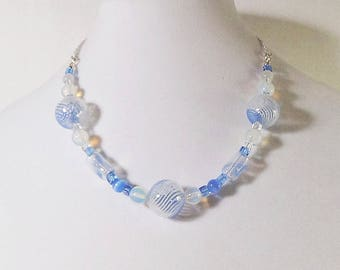 Beautiful blue glass bubbles.