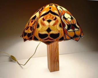 """INLAID light wood """"Mushroom"""" Ht: 40 X 34"""