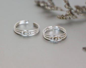 Silver Toe Ring, Dainty Toe Band, Adjustable Toe Ring, Minimalist Toe Ring, Gift Toe Ring, Bohemian Toe Ring, Feet Accessory, (TS54)