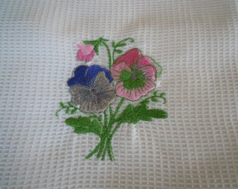 white tea towel cotton d bee nest