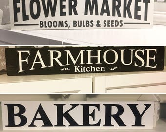 Farmhouse style signs market scandinavian home decor wooden wedding