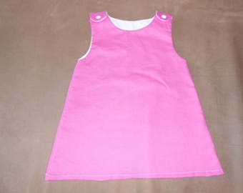 hot pink baby trapeze dress